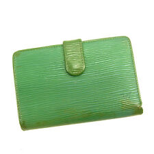 Louis Vuitton Wallet Purse Coin purse Epi Green Woman Authentic Used D1405