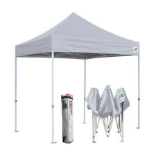 Gray 8x8 Ez Pop Up Fair Tent Trade Show Gazebo Shade Tent Camping Canopy Shelter