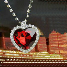 Hot Beautiful Necklace Red Heart Of The Ocean Retro Pendant Valentine Gifts New