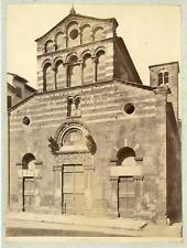 Italie, Lucca, Chiesa di S. Giusto  Vintage albumen print.  Tirage albuminé