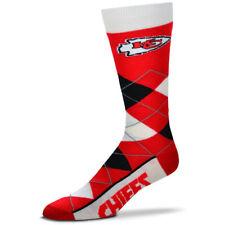 Kansas City Chiefs NFL For Bare Feet Argyle Crew Socks