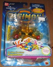 Digimon Action Feature Rapidmon Figure with Armor Ready MOC Bandai 2001 Series 2