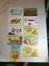 LOT Vintage Humorous Full Color Post Cards