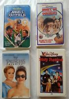 Mary Poppins Princess Diaries Angels Outfield We Shrunk Ourselves Disney VHS Lot