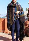 Brown Blue Stripe Yak Wool Meditation and Yoga Blanket