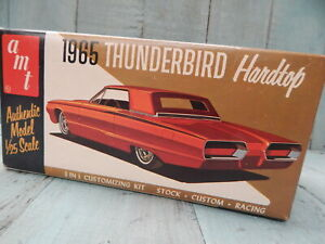 AMT '65 THUNDERBIRD H/T 3 IN 1 ORIGINAL VINTAGE RARE COLLECTABLE KIT IN ART BOX