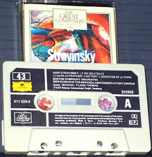 Stravinsky Rite Of Spring  King Of The Stars CASSETTE ALBUM Great Composers 43