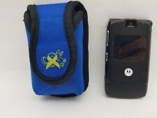 Motorola Black Razr V3 Cingular Untested w/ Neoprene Jogging Case