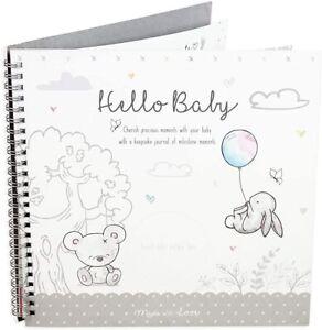 Baby Milestone Journal Keepsake Toddler Newborn Shower Christening Gift...