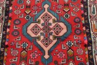 Tribal Geometric Red 3x6 ft. Hamedan Area Rug Wool Hand-knotted Oriental Carpet