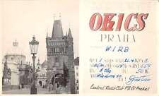 Praha Prague Czechoslovakia Radio QSL Call Card Real Photo Postcard J61779