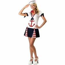 Sassy Sailor Navy Girl Costume Halloween Fancy Dress Medium Size Brand New