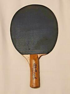 VINTAGE 1950'S SPALDING PRO TABLE TENNIS BAT PADDLE: AD BROOK: SUPERB LOOK !!!