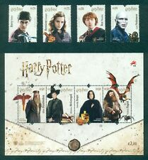 PORTUGAL 2019 HARRY POTTER * 4 STAMPS + 1 BLOCK * MNH ISSUE 08/27