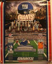 """New York Giants Pride History of Victory Super Tickets 16 x 20"""" Poster"""