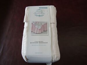 NIP Simply Shabby Chic Cal-King Pink Ruffled Bed Skirt 100% Cotton in Package