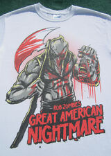 ROB ZOMBIE'S Great American Nightmare SMALL T-SHIRT halloween white