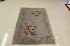 Super Fine Vintage Chinese Art Deco Rug 3'.X5' 100% Wool  75% OFF GREAT PRICE!!!