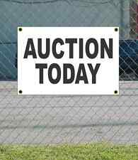 2x3 AUCTION TODAY Black & White Banner Sign NEW