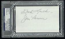 James Jim Parmer (d. 2005) signed autograph 3x5 Philadelphia Eagles PSA Slabbed