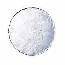 "Luminarc Canterbury-Arc Magnolia 10"" Embossed ClearGlass Dinner Plates Set Of 8"