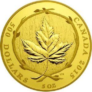Kanada - 500 Dollar 2015 - The Glorious Maple Leaf (2.) - 5 Oz Gold PP