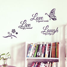 Live Laugh Love Quotes Butterfly Wall Stickers Art Home Room Decor Room Decal