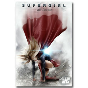 Supergirl Season 2 TV Series Silk Poster 13x20 24x36 inch