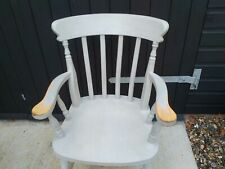 Carver Painted farmhouse style Chair in grey blue.Preowned Item.