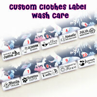 Personalized Custom Fabric Label Satin Ribbon Sew On Hanging Tag Wash Care Quilt