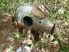 NEW METAL Fat Pig  BIRDHOUSE with Chain to Hang Whimisical Garden Hog Country