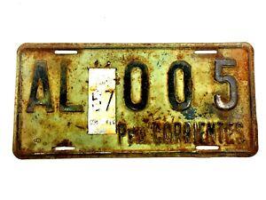 1967 Province Corrientes Argentina Provincia Corrientes Auto License Plate # F11