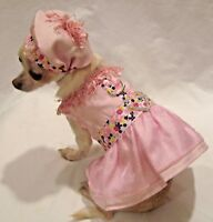 Harness Dress/Dog Dress/Dog clothes/ Pink Fantasy Set SIZE XS or Med.-FREE SHIP