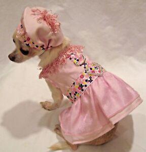 Harness Dress/Dog Dress/Dog clothes/ Pink Fantasy Set SIZE XS or Med.-FREE SHIP