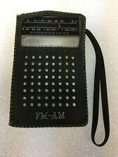 Vintage Victor 8F-242 AM FM Pocket Radio +Leather Case - Works Great Japan 1960