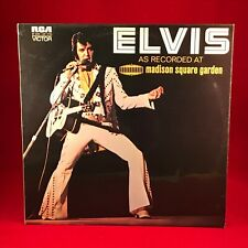 ELVIS PRESLEY As Recorded At Madison Square Garden 1972 UK VINYL LP EXCELLE LIVE