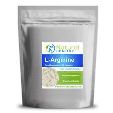 60 L-Arginine - Enhance fat metabolism, Increase strength & muscle mass