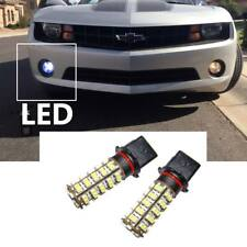 Two Blue LED Bulbs 68-SMD P13W  for Chevy Camaro Fog Lights and DRL