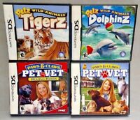 Paws Claws Vet Healing Hands, Petz Tigerz Dolphinz Game Lot Nintendo DS Lite 3DS