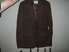 A Vintage Harex Brand Brown Wool Tweed Jacket Sz Small - Med