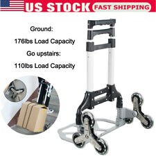 Climbing Stair Cart Folding Hand Truck Portable Trolley 6 Crystal Wheelampropes Us
