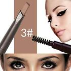 Girl Lasting Liner Double-end Eyebrow Pencil With Brush Pen Tools 3# Light C D