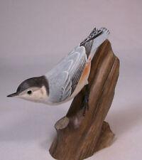 White-breasted Nuthatch Original Bird Carving/Birdhug
