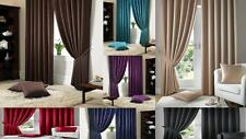 MADISON PLAIN SQUARES PATTERN CURTAINS FULLY LINED PENCIL PLEAT FREE TIE BACKS