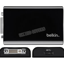 Belkin Usb 3.0 A Dvi Adaptador para conectar a un monitor externo, Tv Proyector Nuevo