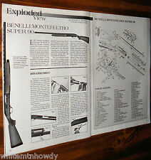 2000 BENELLI Montefeltro Super 90 Exploded View~Parts List~Assembly Article**