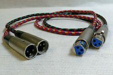 One Pair Cables AUDIOPHILE NEOTECH OFC 1,00 m XLR male -> XLR Fem. Symétriques .