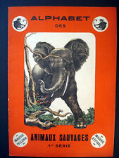 Vintage Pellerin Imagerie Alphabet des Animaux Sauvages Illustrated Book Inv1310