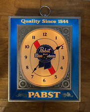 Vintage Pabst Blue Ribbon Lighted Wall Clock Bar Sign Man Cave