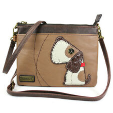 NEW CHALA TOFFY DOG MINI CROSSBODY CELL PHONE PURSE ADJUSTABLE STRAP BROWN